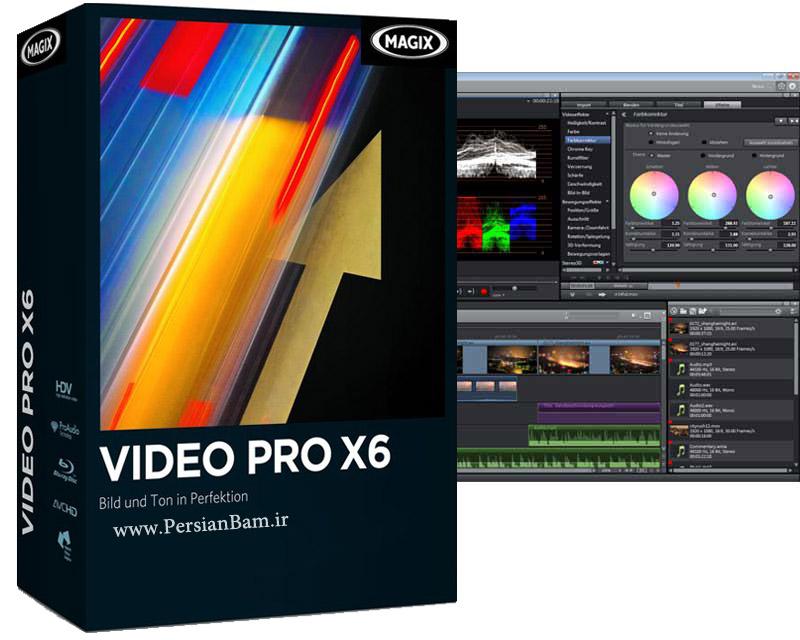 نرم افزار تدوین ، میکس و ادیت حرفه ای فیلم های ویدیویی MAGIX Video Pro X6 13.0.5.9
