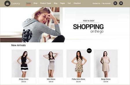 دانلود رایگان قالب فروشگاهی Luxury برای ووکامرس