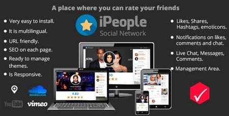 اسکریپت شبکه اجتماعی با قابلیت امتیازدهی iPeople